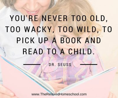 Reading to your children is a great way to spark joy and interest in reading!