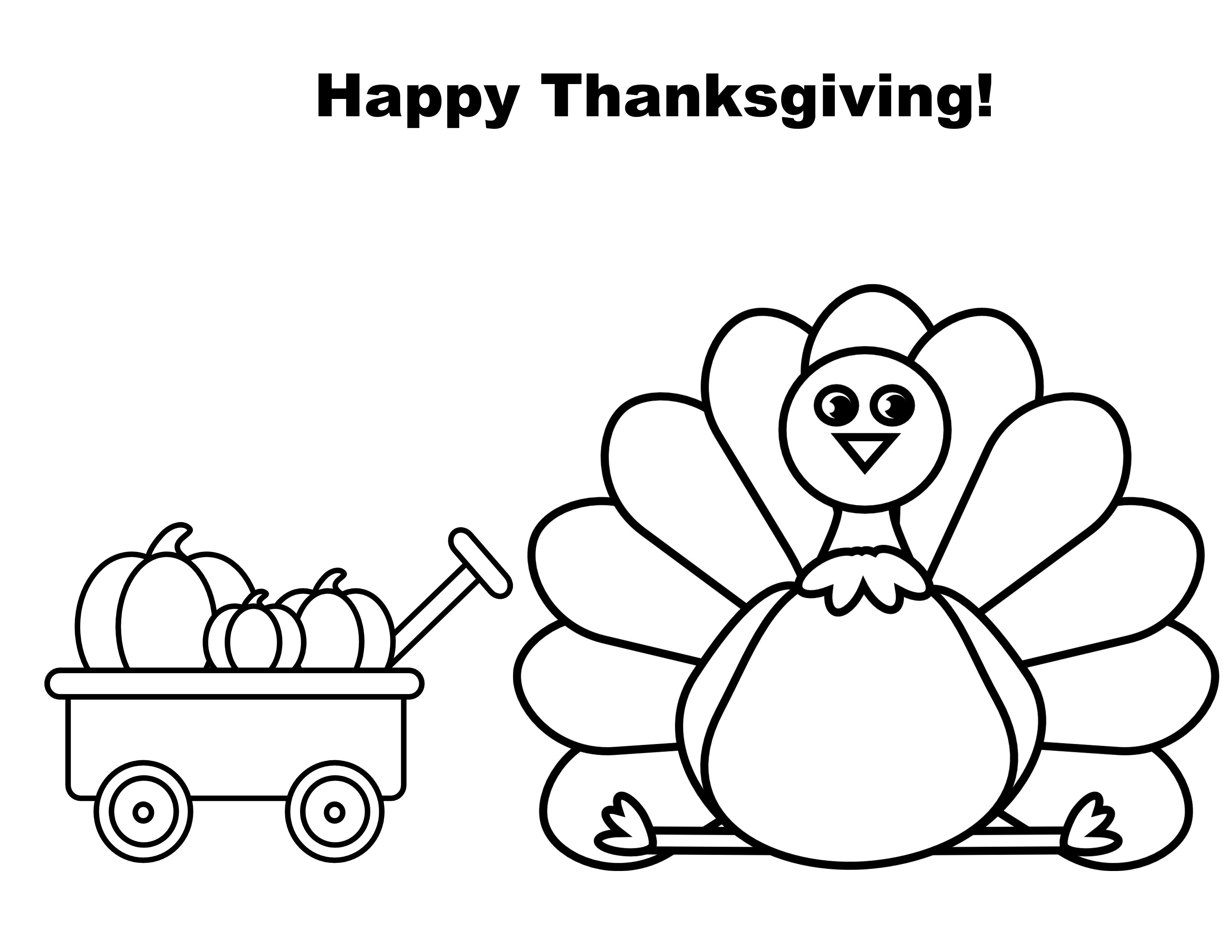 FREE Thanksgiving Color Sheet! - The Relaxed Homeschool