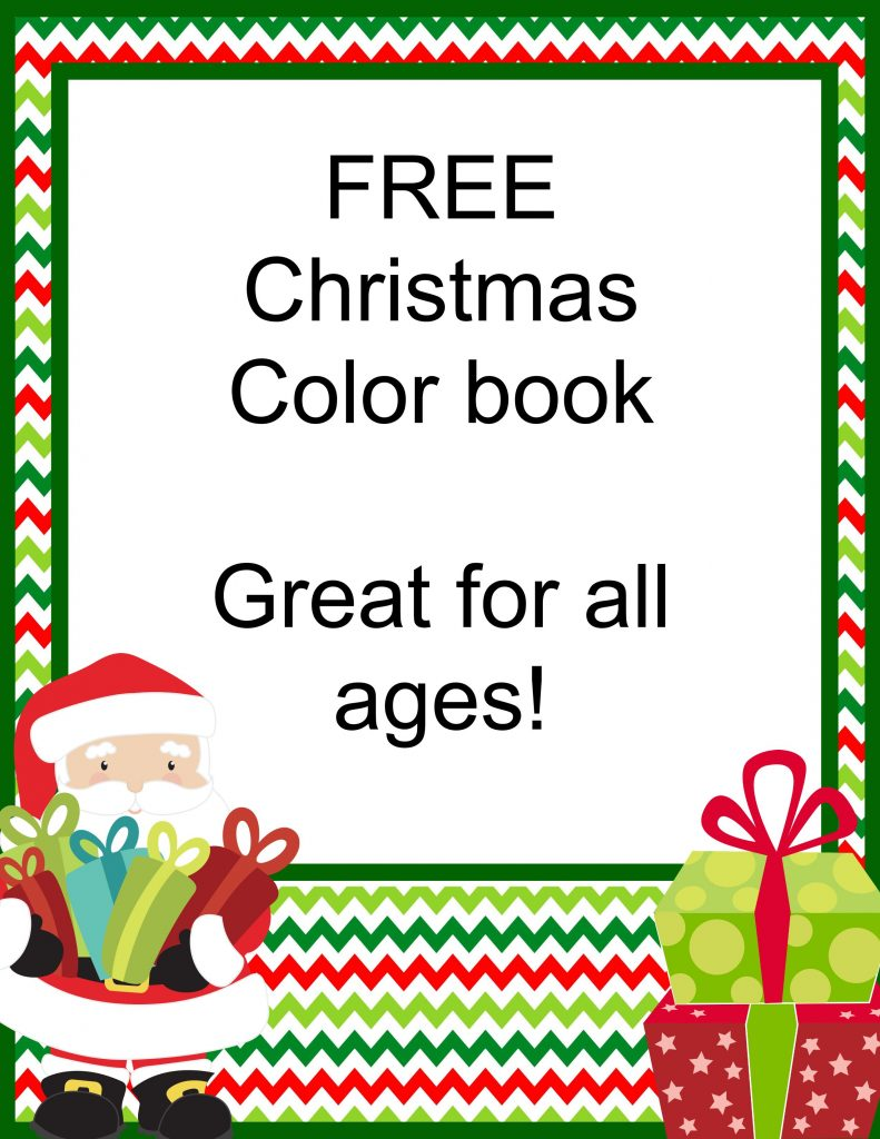 FREE Christmas Coloring Book! Great for all ages!