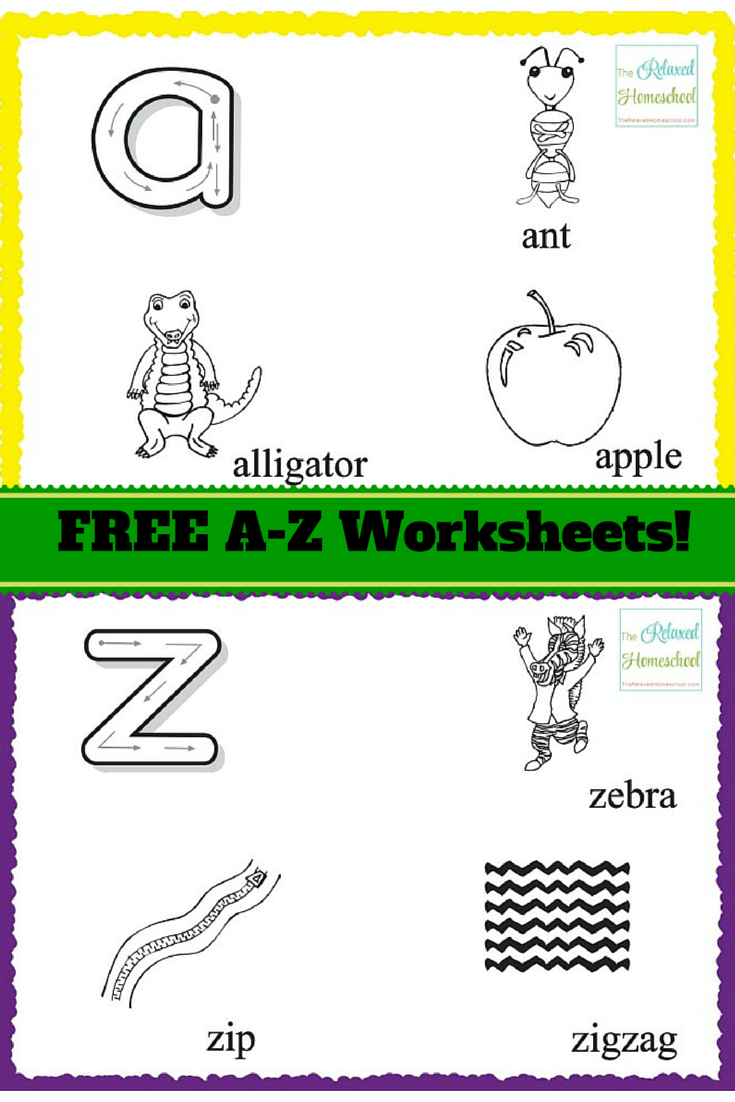 Free Printable Alphabet Worksheets for preschoolers & Kindergarten