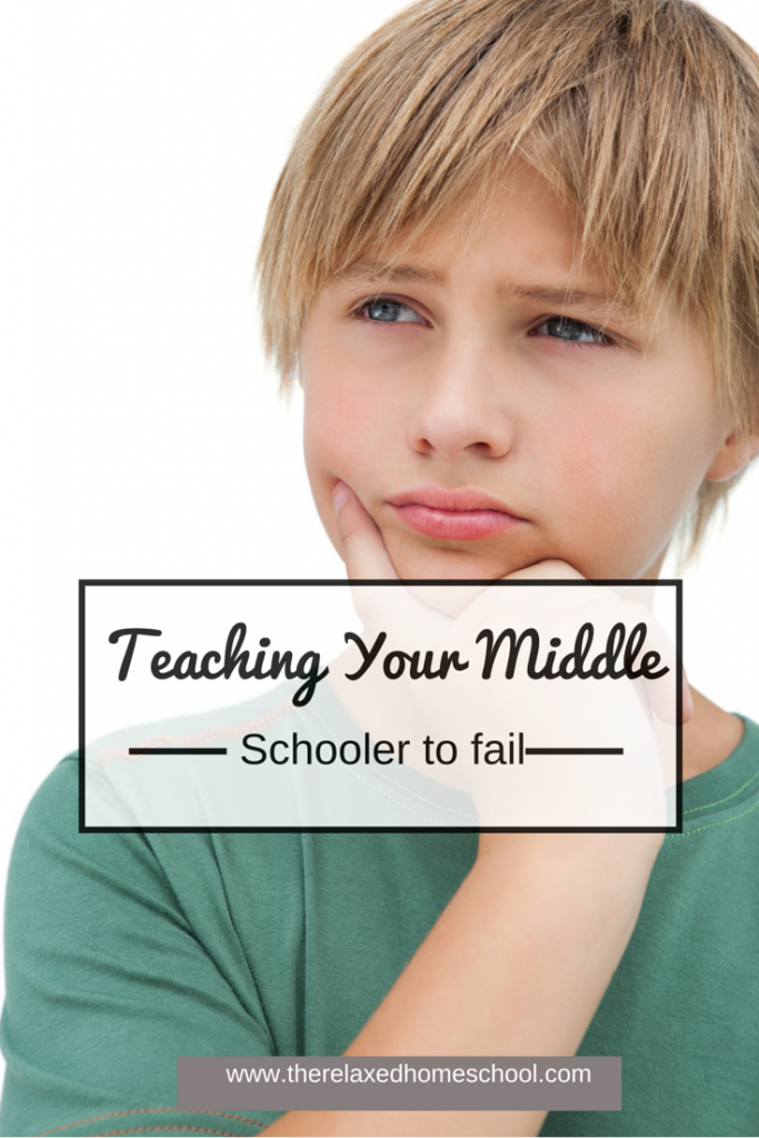 Teaching your middle schooler that failure is okay.