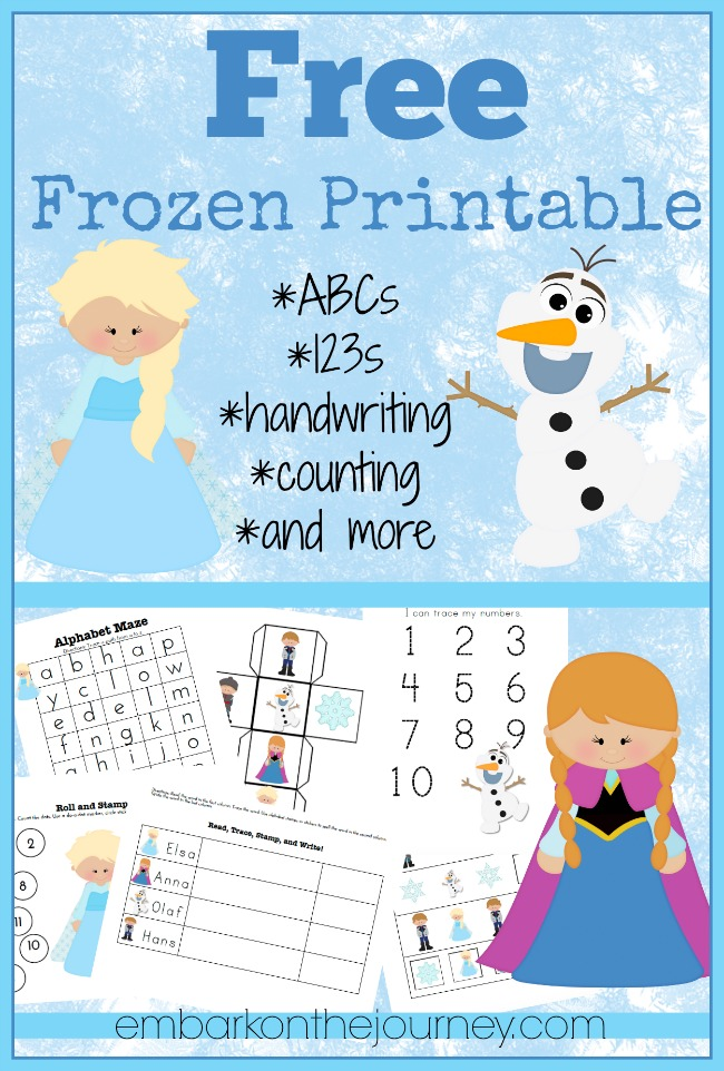FREE Frozen printable pack! Download yours today!