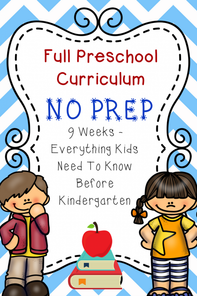 Full Preschool Curriculum: No Prep! Everything your child needs to know before Kindergarten!