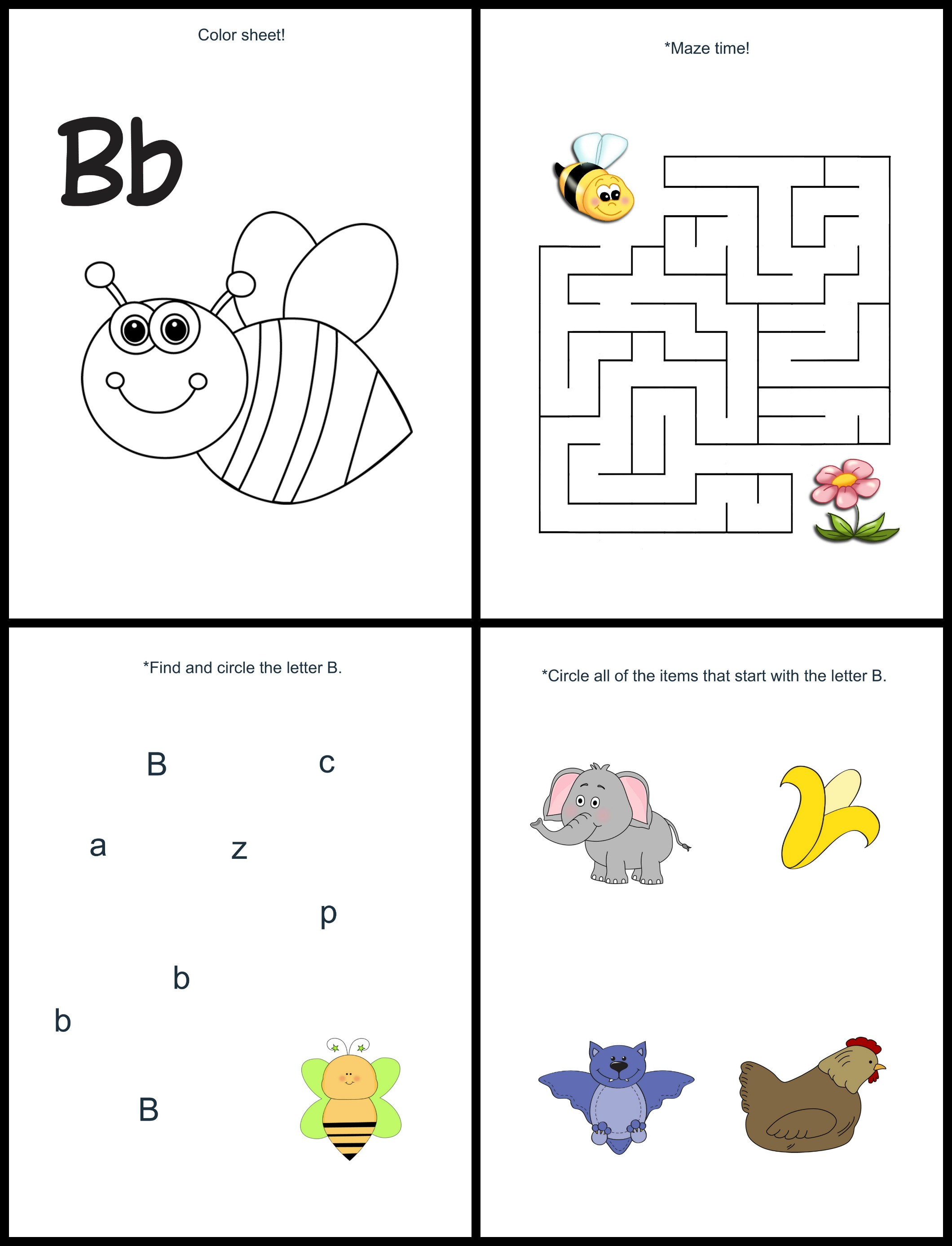 FREE Letter B lesson pack: Free tot school series