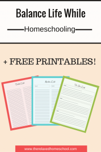 Homeschool schedule - Balance work, housework, and homeschooling! PLUS Free printables!