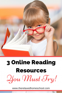 Find out 3 of the top online reading resources that you must try! Great place for reading resources for homeschoolers!