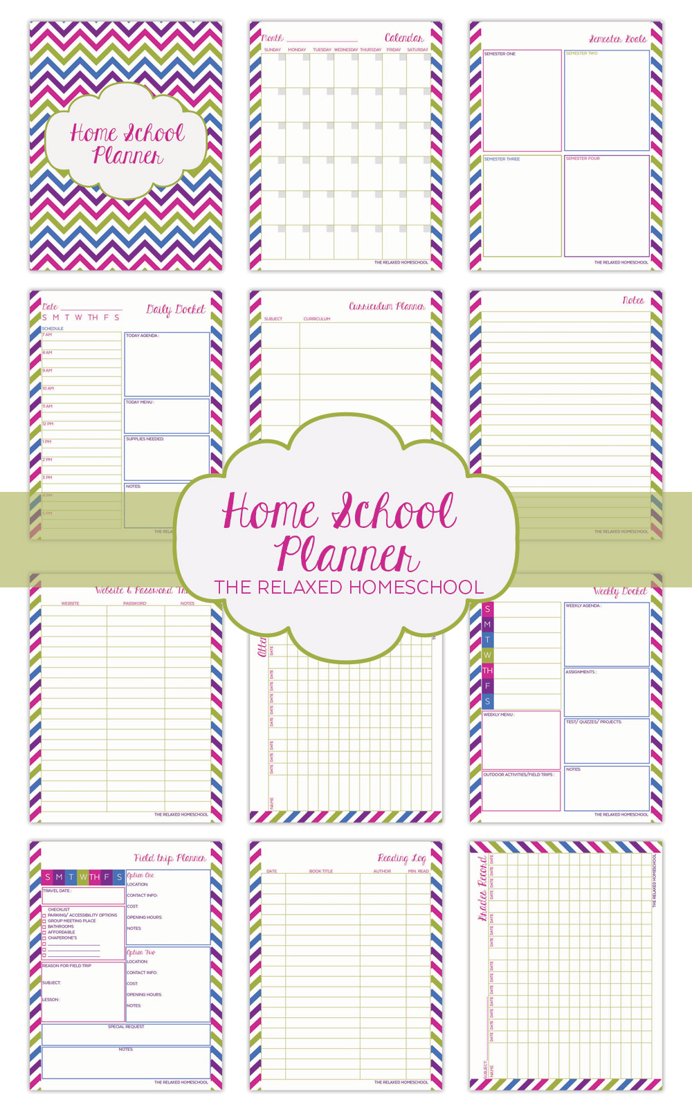 Diy Calendar Homeschool : Homeschool planner the relaxed