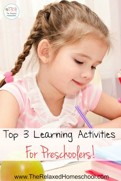 Check out these top 3 learning activities for preschoolers that you can use starting today!