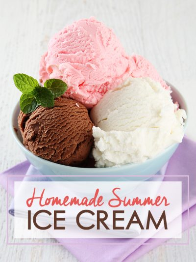 Homemade Summer Ice Cream!