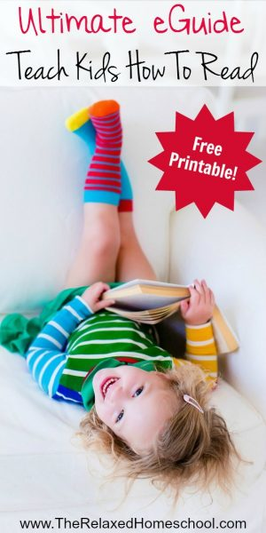 Free eguide! Teach kids to read with these simple tips and tricks! | Homeschooling | Reading Programs