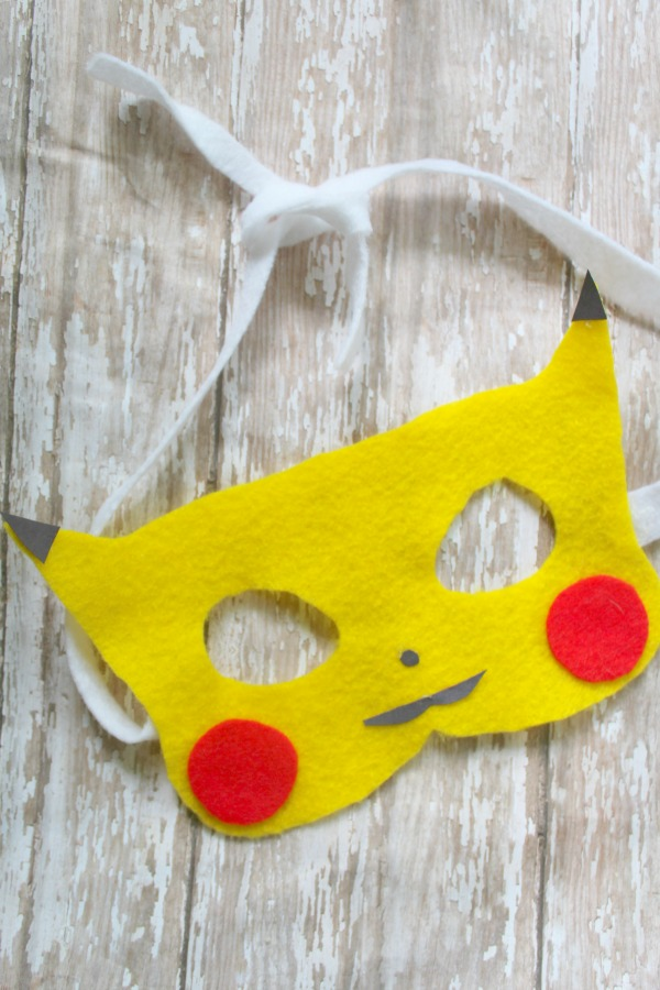Fun pikachu mask craft mask for kids great for all ages for Pokemon crafts for kids