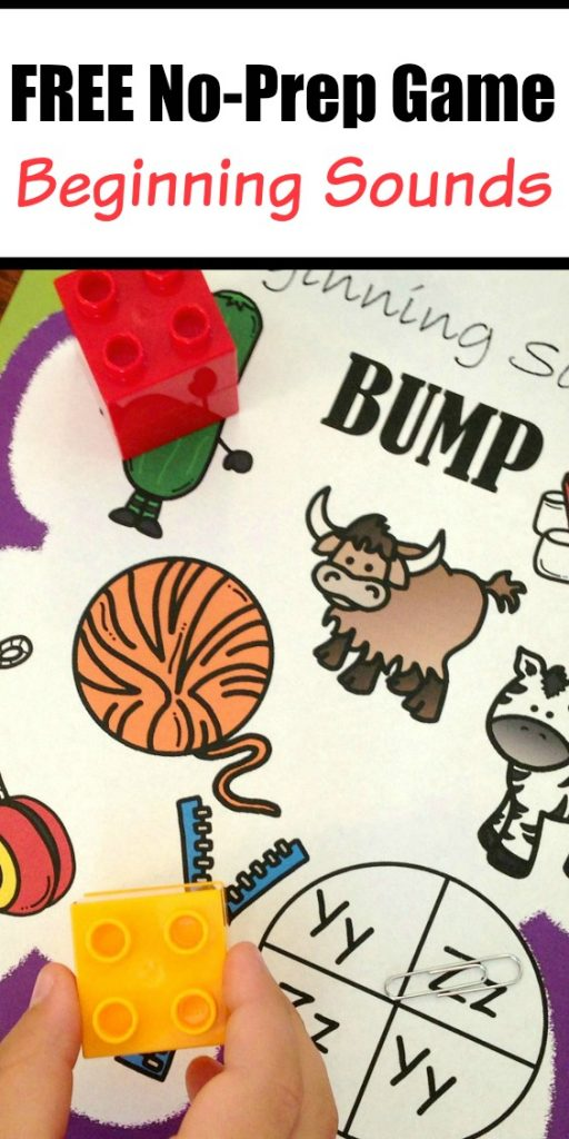 Download this FREE Beginning Sounds Game here!