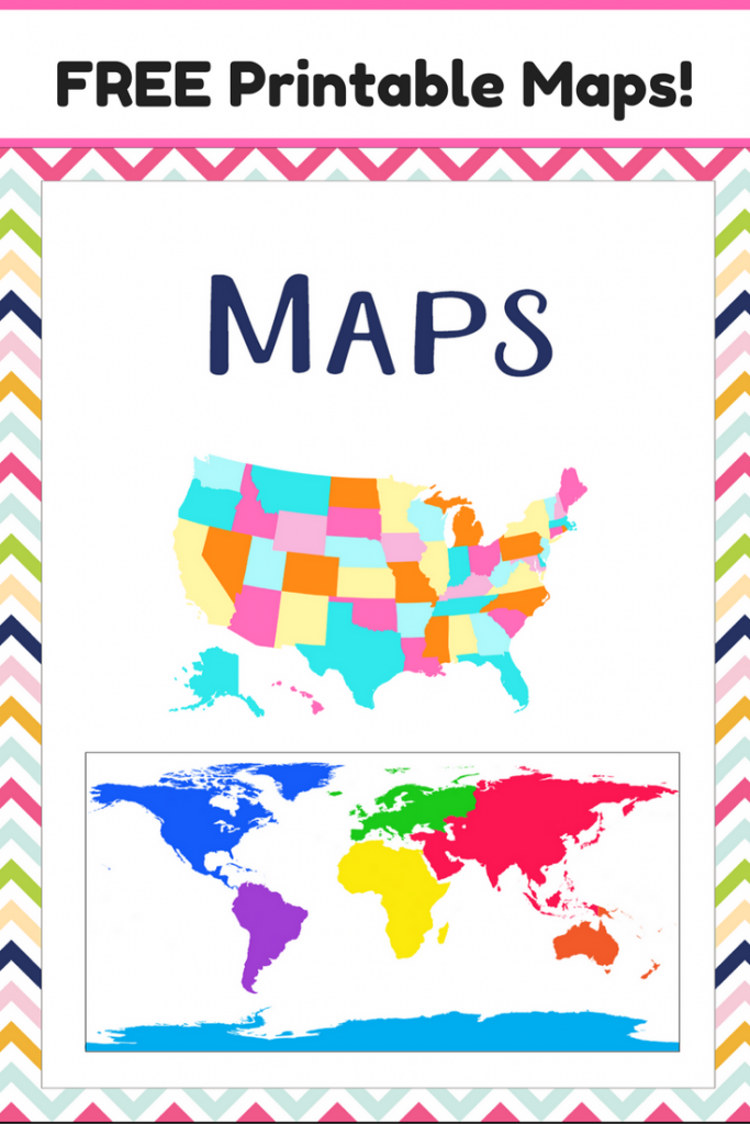 This is a photo of Gorgeous Printable Maps for Kids