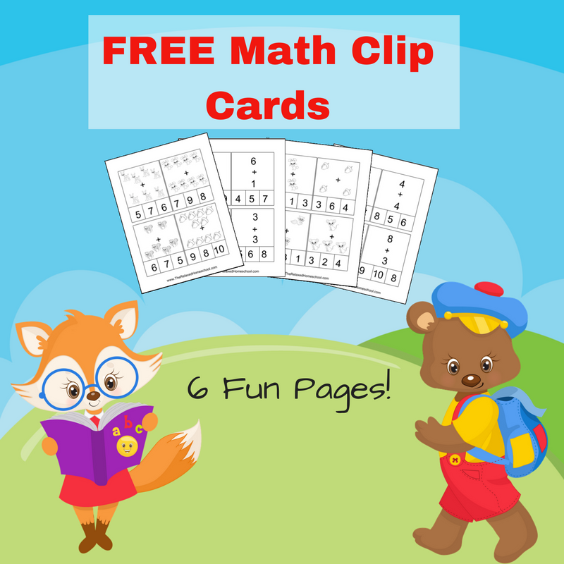 FREE Math Clip Cards - The Relaxed Homeschool