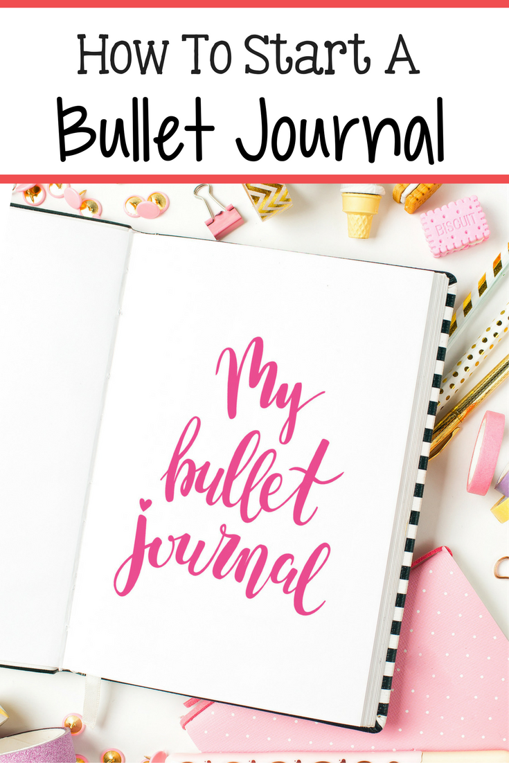 A bullet journal is a fun and easy way to get yourself organized! Here is a step by step guide on how to start a bullet journal!