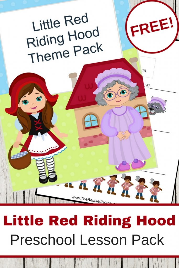 FREE Little Red Riding Hood Activity Pack!