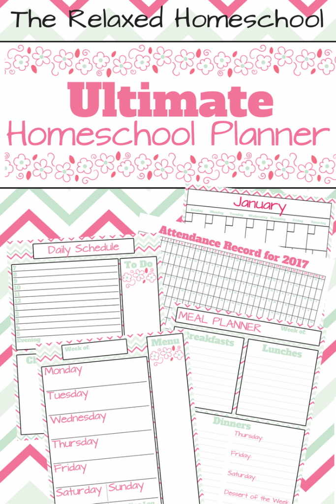 FREE Homeschool and household planner all in one! Click to download!