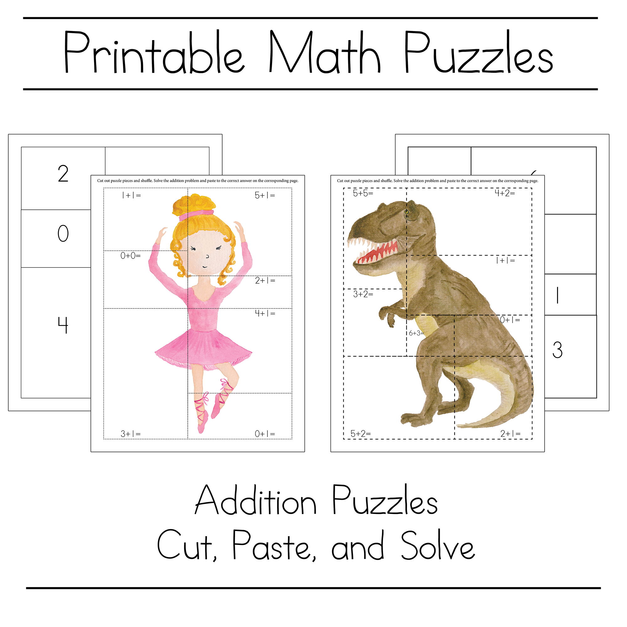 Fun Math Puzzle For Kids To Practice Math Skills - Free Download