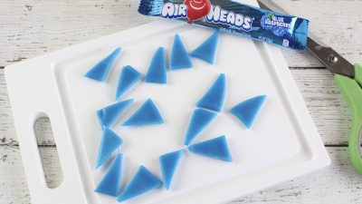 shark fins made out of blue airheads