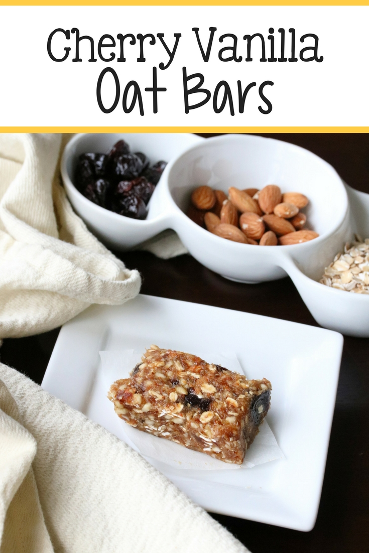 Cherry Vanilla Oat Bars Recipe