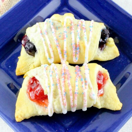 Patriotic fruit filled roll ups f