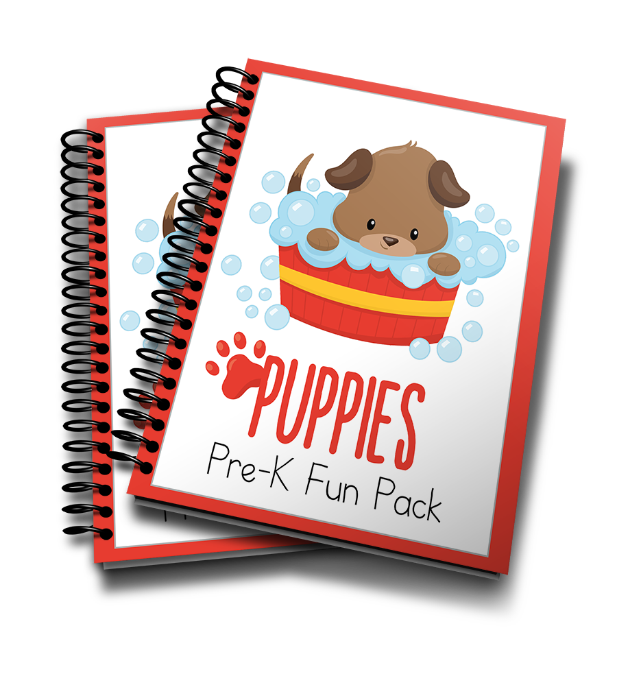 Puppies PreK printable pack