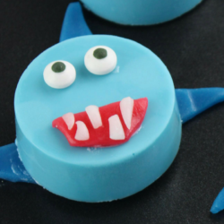 Shark Cookies made with Oreos and Airheads