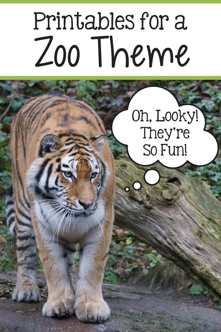Zoo Themed Homeschool Printables