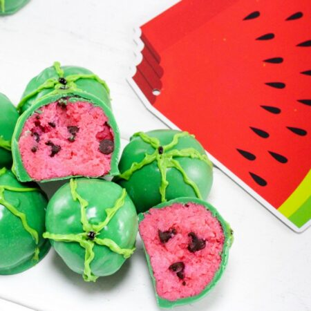watermelon cake balls recipe - the relaxed homeschool f