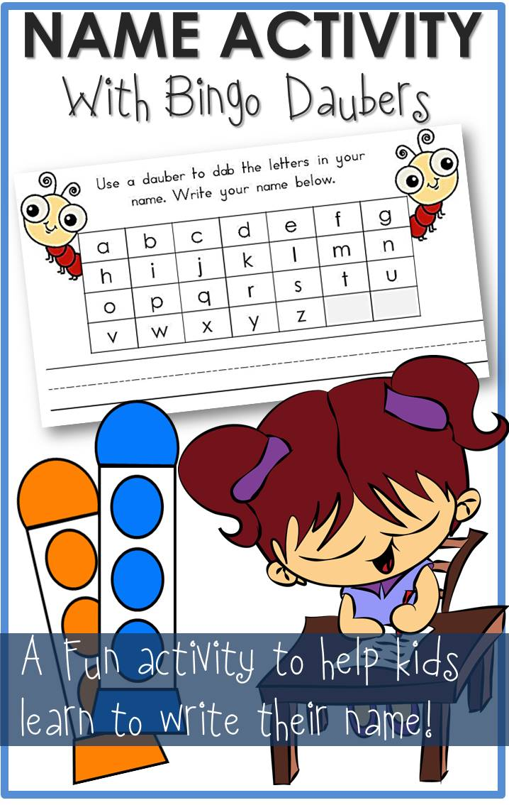 Name Activity Bingo Daubers Worksheet The Relaxed Homeschool
