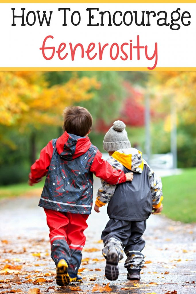 Quick guide to how to teach your children to be more generous with others.
