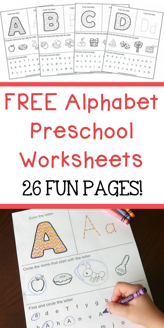 Download These Free Alphabet Preschool Worksheets This Packet Will Help Teach Your Preschooler The