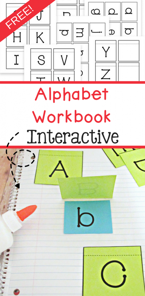 Free alphabet workbook that is also interactive! Great way to teach preschoolers and Kindergartners their alphabet. This free printable includes both upper case letters and lower case letters.