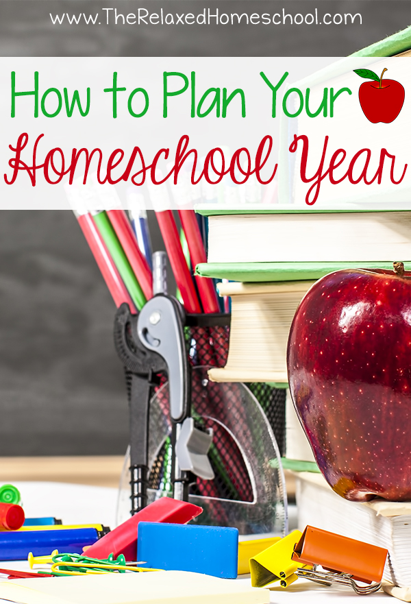 Some really great tips on how to easily plan your homeschool year! Save time planning your homeschool year with these tips from an experienced homeschooler.
