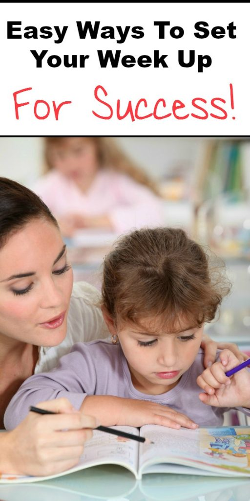 Set your week up for success right from the start with these easy tips and tricks! Homeschool schedule | homeschool planning