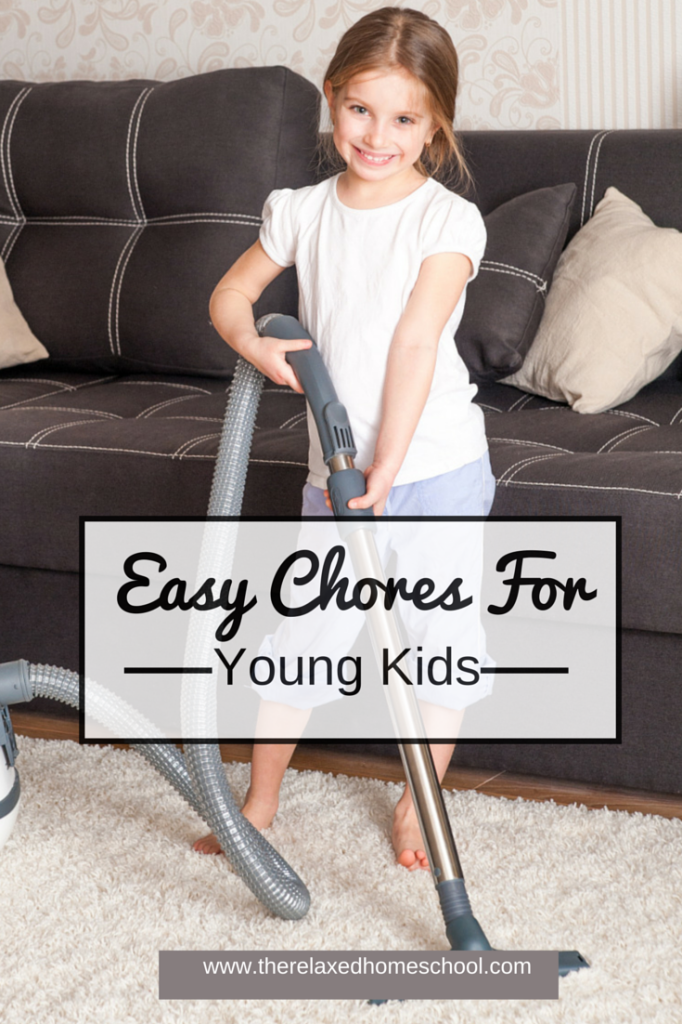 Easy chores for young children! Get them involved and watch their self esteem sore!