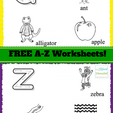 FREE Alphabet worksheets! Beginning sounds and hand writing skills!
