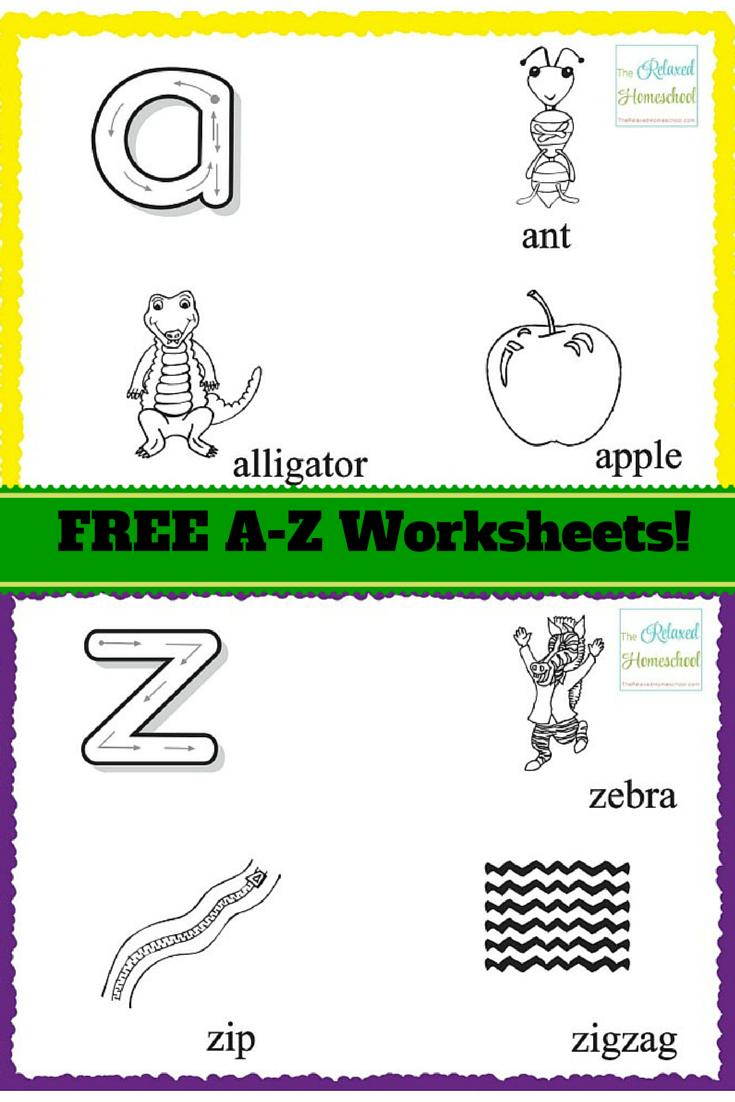 Free Printable Alphabet Worksheets for preschoolers ...