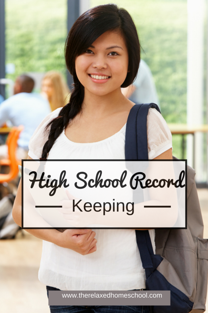 How to keep high school records in your homeschool.