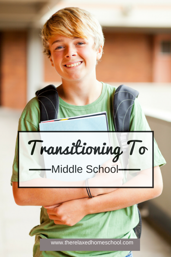Transitioning your homeschool child to middle school work can be a challenge. Check out this post on how to make a smoother transition for both you and your child! Homeschooling Middle School