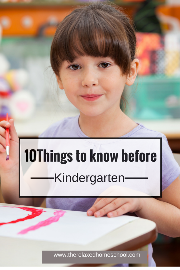 10 Things your child needs to know before kindergarten!