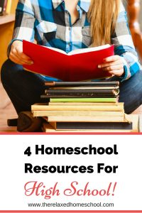 4 Amazing homeschooling resources for high school students. This will make things so much easier!