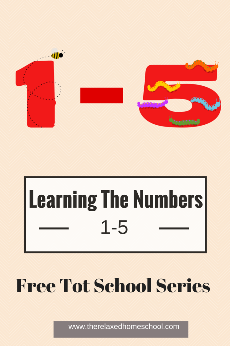 FREE tot school week 2! Learning the numbers 1-5!