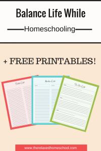 Homeschool schedule - Balance work, housework, and homeschooling! PLUS Free printables!