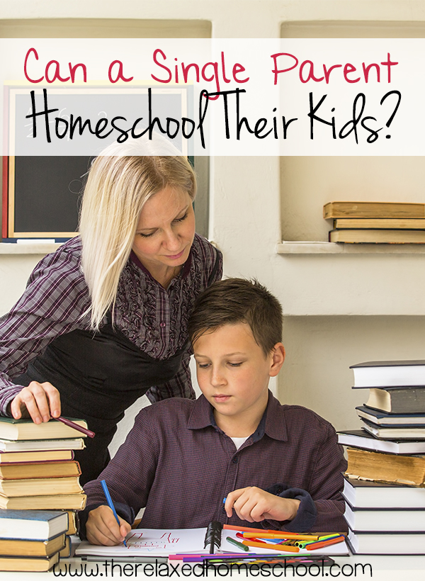 Can a single parent homeschool their kids? Check out these homeschooling tips for single parents!