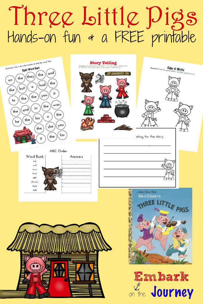 3 Little Pigs free printable pack!