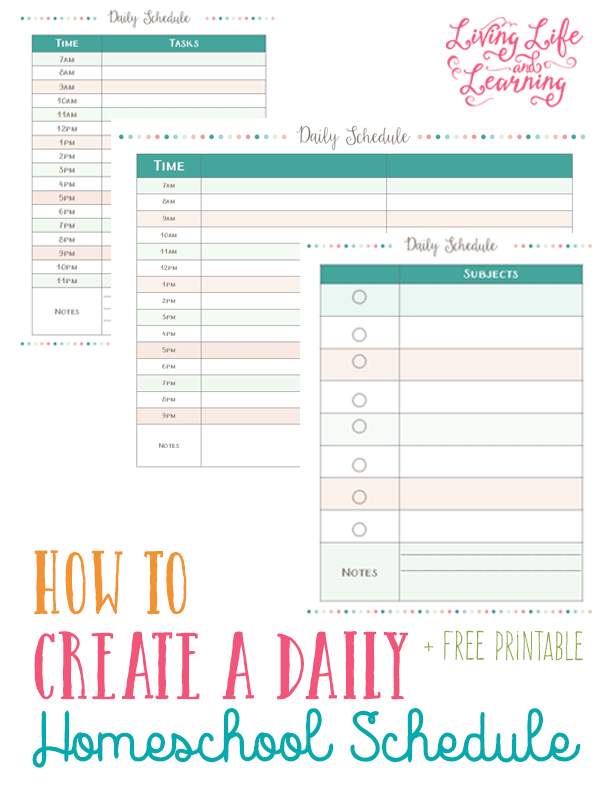 Free daily planning pages for homeschool moms homeschool for Home planner free