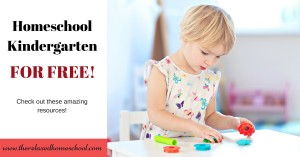 You can homeschool for kindergarten free! Check out these amazing resources to get you started today! Homeschooling | kindergarten | Free homeschool