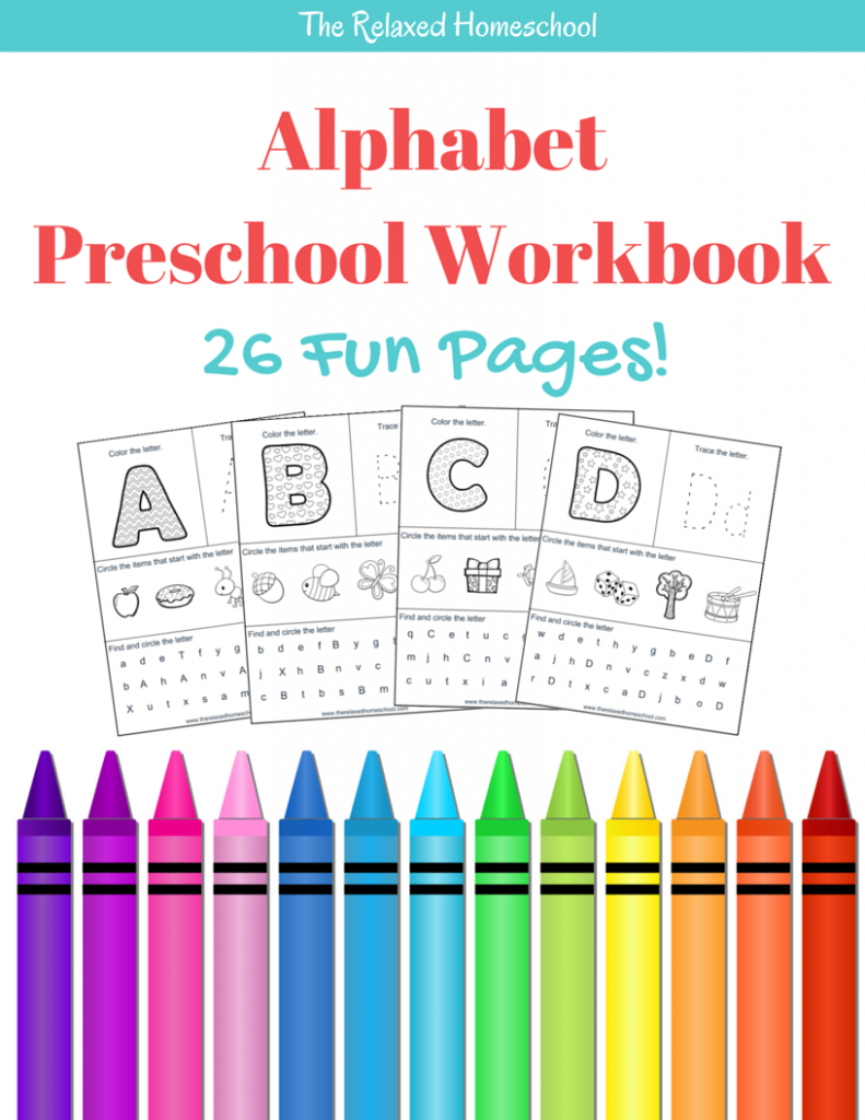 Amazing FREEBIE for your preschooler! 26 page ABC workbook. Great for practice work or morning work! Fun alphabet activities for preschoolers and kindergartners.