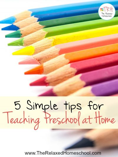 Are you homeschooling preschool? Check out these 5 tips that will help you get through your preschool days with ease!